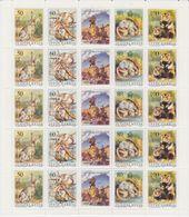 Yugoslavia 1992 Nature/Wild Animals Strip 5v Sheetlet  ** Mnh (F7569) - 1992-2003 Federale Republiek Joegoslavië