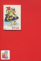 Ravissant Carnet Calendrier 1936  Crème Eclipse Cirage Illustrateur Micho Canard Radeau Chaussure - Calendars