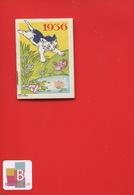 Ravissant Carnet Calendrier 1936  Crème Eclipse Cirage Illustrateur Micho Chaton Chat Oiseau - Calendars
