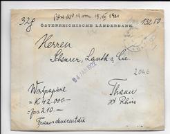 AUTRICHE - 1922 - ENVELOPPE CHARGEE De WIEN => THANN (HAUT-RHIN) - 1918-1945 1a Repubblica