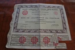 Société Alsacienne Des Tissages GROS-ROMAN - Actions & Titres