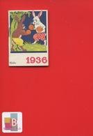 Ravissant Carnet Calendrier 1936  Crème Eclipse Cirage Illustrateur Micho Lapin Boxe Boxeur - Kalenders