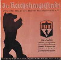 Très Rare Dépliant Touristique Berlin 1939 24 Pages +carte Deuxième Guerre Mondiale - Dépliants Touristiques