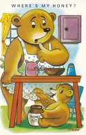 Harvey Barton Humour Postcard; Where,s My Honey.Signed Trow - Humor