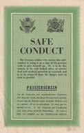 Rare Safe Conduct Anglais Allemand à L'usage Des Soldats Allemands Avant Le Débarquement De Normandie 1944 - 1939-45