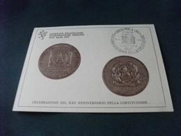 RAPPRESENTAZIONE MEDAGLIE CELEBRAZIONE DEL XXV ANNIVERSARIO DELLA COSTITUZIONE GIORNATE NUMISMATICHE IMOLESI IMOLA - Monete (rappresentazioni)