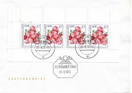 1972 DDR  Mi. H- Blatt  14 + 15 FDC  Rosenausstellung - FDC: Enveloppes