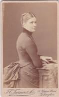 ANTIQUE CDV PHOTO - LADY WITH BUSTLE. ISLINGTON STUDIO - Photographs