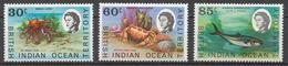 BIOT 1970 Mi# 36-38** MARINE FAUNA - Territoire Britannique De L'Océan Indien