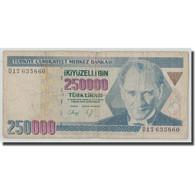 Billet, Turquie, 250,000 Lira, L.1970, 1970-01-14, KM:207, B - Turquie