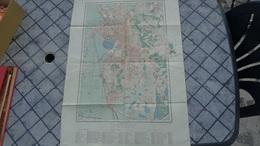 Carte De Tananarive (Madagascar ) De 1947 ,format 76cm X 55cm - Cartes