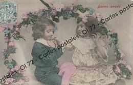 CPA - Fêtes - Voeux > Bonne Année - Garconnet Et Fillette Baise Main - Nouvel An