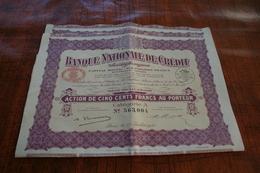 Banque Nationale De Crédit - Actions & Titres