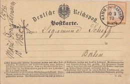 DR Karte EF Minr.18 K1 Hamm I. W.-Bahnhof 10.3.73 - Deutschland