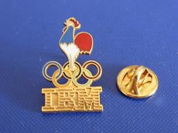 Pin's IBM Jeux Anneaux Olympiques - Coq France Tricolore - Ordinateur Informatique (YH61) - Computers