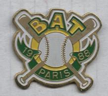 Pin's Baseball BAT Paris - Baseball