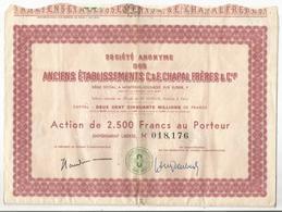 Société Anonyme Des Anciens établissements C&e Chapal Frères & Cie Montreuil Sous Bois ( Crocq Creuse ? ) + 28 Coupons - Shareholdings