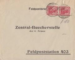 DR Feldpostbrief Mef Minr.2x 86 Feldpostamt 8.8.16 Gel. An 6. Armee Feldpoststation 403 - Deutschland