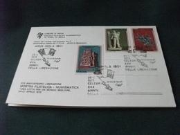 COMITATO DI LIBERAZIONE NAZIONALE IMOLA XXX ANNIVERSARIO LIBERAZIONE 1975 CARTOLINA DOPPIA SERIE FRANCOBOLLI RESISTENZA - Imola