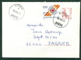 Yugoslavia 1981 SPET Compulsory Stamp Aple Shooting Stationery Vrsac Titograd Kotor Letter Cover - Nuovi