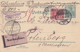DR GS-NN Zfr. Minr.56 Weissenfels 10.1.02 Gel. Nach Ortenberg - Deutschland