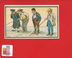 LILLE CHICOREE BERIOT Chromo Farredesche Peche Ligne PECHEUR HANDICAP INVALIDE - Trade Cards