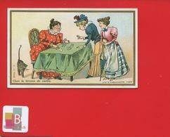 LILLE CHICOREE BERIOT Chromo Farredesche  TIREUSE CARTES DIVINATION CARTES À JOUER  CHAT - Trade Cards