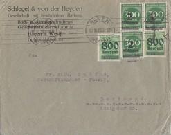DR Brief Mif Minr.2x 308,3x 310 Hagen 10.10.23 Geprüft - Deutschland