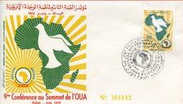 """Maroc;FDC 1972,YTn°640 """" 9èmè Conférence De L'O.U.A. """"Morocco;Marruecos - Marruecos (1956-...)"""