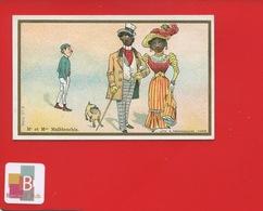 LILLE CHICOREE BERIOT Chromo Farredesche  Monsieur Et Madame Mal Blanchi Couple Noir Racisme - Trade Cards