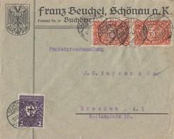 DR Brief Mif Minr.2x 194a,200a Schönau 5.12.22 Geprüft - Deutschland