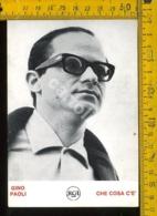 Personaggio Musica Teatro Cantanti Spettacolo Gino Paoli - Cantanti E Musicisti