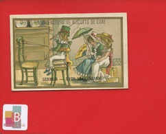 Lyon Villeurbanne Manufacture De Biscuits GERMAIN Jolie Chromo Mertens Enfants STYLE KATE GREENAWAY Jeu Cheval Cocher - Trade Cards