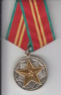 USSR MEDAL FOR IMPRECCABLE SERVICE IN ARMED FORCES 15 YEARS - Russia