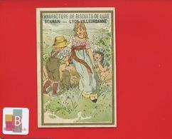 Lyon Villeurbanne Manufacture De Biscuits GERMAIN Jolie Chromo Mertens Enfants STYLE KATE GREENAWAY Campagne Oisillons - Trade Cards