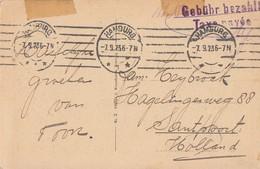 DR AK Gebühr Bezahlt Hamburg 7.9.23 Geprüft Gel. Nach Holland - Briefe U. Dokumente