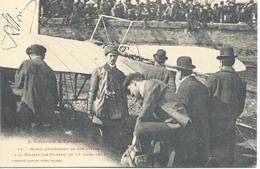 L' Aviation à Toulouse  Morin Descendant De Son Appareil 11 Mars  1911 Carte Dedicacée - Toulouse