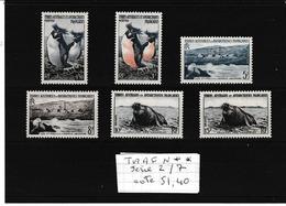 TAAF SERIE COMPLETE N°2/7 N**  A VOIR - Terres Australes Et Antarctiques Françaises (TAAF)