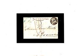 ITALIA 1848 'LIVORNO VIA DI MARE B' Lettera Da Parigi - Italia