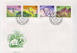 Liechtenstein Set On FDC - Geology