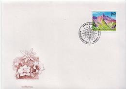 Liechtenstein Stamp On FDC - Geology