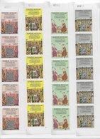 Laos 1984; Chess Echecs; Set + 5x Full Serie  In Numbered Cornerblocs - Laos