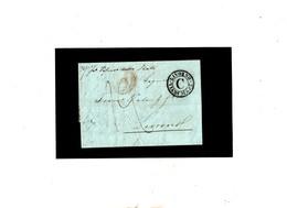 ITALIA 1848 'Livorno Via Di Mare C' Lettera Da Genova - Italia