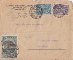 DR Brief Mif Minr.253,255,10x 256,20x 269 Frankfurt 27.8.23 Gel. In USA - Deutschland
