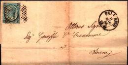 72764)  LETTERA CON 20C. SU 15C. EFFIGE DEL RE 3° TIPO DA  PALERMO A NISCEMI  IL 11-5-1866 - 1861-78 Vittorio Emanuele II