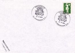 18  Cachet Point Philatélie  CHAMBERY RP  73  Savoie  23 12 1992  Marianne Briat - Marcophilie (Lettres)