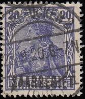 SAAR - Scott #46 Germania 'Overprinted' / Used - 1920-35 League Of Nations