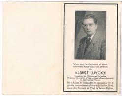 Dp.Inspecteur Au Ministère De La Justice. Luyckx Albert. ° Mont-St. Amand 1914 † Retie 1948 - Religione & Esoterismo