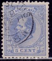 Netherlands, 1872, King William III, 5c, Sc#23, Used - Gebruikt