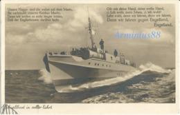 """Kriegsmarine - Schnellboote - Lieder Der Front - Serie ...""""denn Wir Fahren Gegen Engeland"""" - München - 09.5.40 Feldpost - Oorlog 1939-45"""